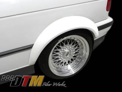 DTM Fiberwerkz - BMW 3 Series DTM Fiberwerkz GTR-S Style Rear Wide Body Fender Flares - E36GTR-SFend