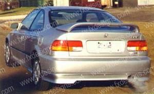 FX Designs - Honda Civic FX Design Rear Valance - FX-107