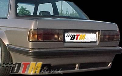 DTM Fiberwerkz - BMW 3 Series DTM Fiberwerkz Euro RG Infinity Style Rear Apron - E30 Euro RG