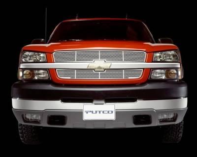 Putco - Chevrolet Silverado Putco Blade Grille - Stainless Steel - 24108