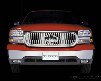 Putco - GMC Sierra Putco Punch Grille Insert with Bar & Shield - 52102