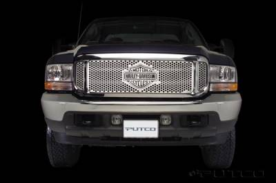 Putco - Ford F250 Superduty Putco Punch Grille Insert with Bar & Shield - 52105
