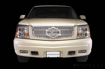 Putco - Cadillac Escalade Putco Punch Grille Insert with Bar & Shield - 52115