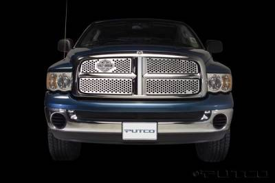 Putco - Dodge Ram Putco Punch Grille Insert with Bar & Shield - 52132