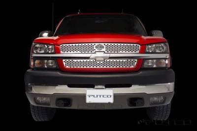 Putco - Chevrolet Silverado Putco Punch Grille Insert with Bar & Shield - 52137