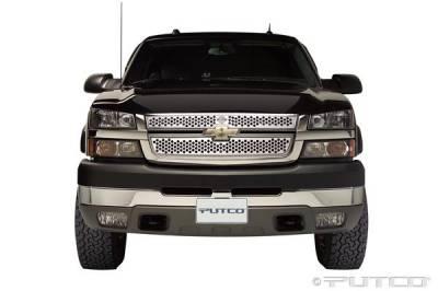 Putco - Chevrolet Silverado Putco Punch Grille Insert with Bar & Shield - 52157