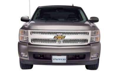 Putco - Chevrolet Silverado Putco Punch Grille Insert with Bar & Shield - 52189