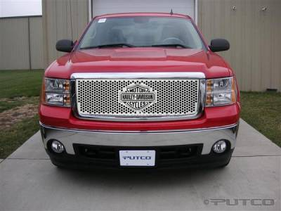 Putco - GMC Sierra Putco Punch Grille Insert with Bar & Shield - 52190