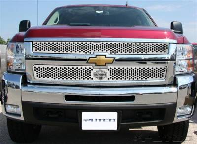 Putco - Chevrolet Silverado Putco Punch Grille Insert with Bar & Shield - 52195