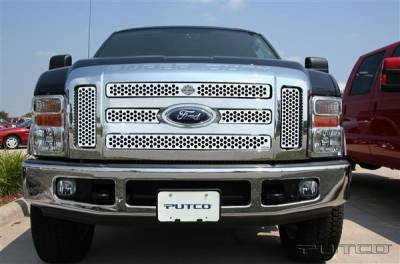 Putco - Ford F250 Superduty Putco Punch Grille Insert with Bar & Shield - 52197