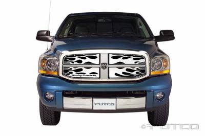 Putco - Dodge Ram Putco Flaming Inferno Grille Insert - 53356