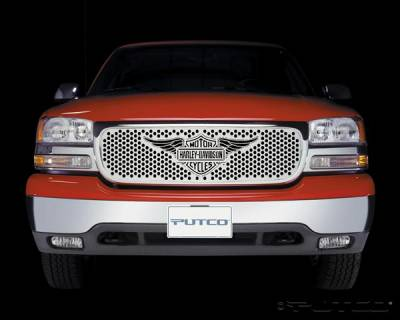 Putco - GMC Sierra Putco Punch Grille Insert with Wings Logo - 56102