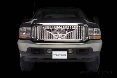 Putco - Ford F350 Superduty Putco Punch Grille Insert with Wings Logo - 56105