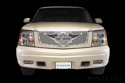 Putco - Cadillac Escalade Putco Punch Grille Insert with Wings Logo - 56115
