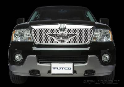 Putco - Lincoln Navigator Putco Punch Grille Insert with Wings Logo - 56117