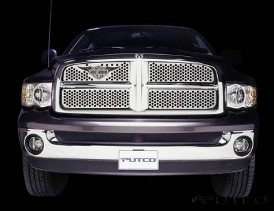 Putco - Dodge Ram Putco Punch Grille Insert with Wings Logo - 56132