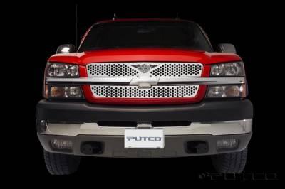 Putco - Chevrolet Silverado Putco Punch Grille Insert with Wings Logo - 56137