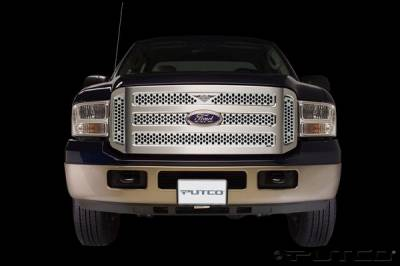 Putco - Ford F250 Superduty Putco Punch Grille Insert with Wings Logo - 56155