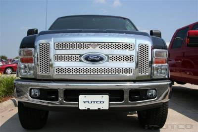 Putco - Ford F250 Superduty Putco Punch Grille Insert with Wings Logo - 56197