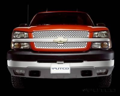 Putco - Chevrolet Silverado Putco Designer FX Diamond Pattern Grille - 64208