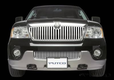 Putco - Lincoln Navigator Putco Designer FX Bumper Insert Vertical Bar Grille - 65704