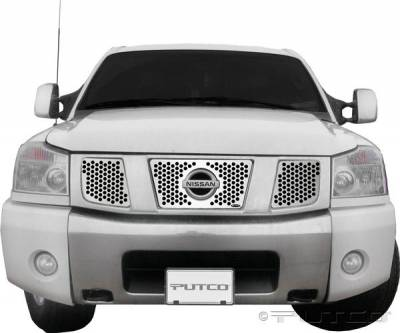 Putco - Nissan Titan Putco Punch Stainless Steel Grille - 84127