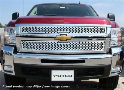 Putco - Chevrolet Silverado Putco Punch Stainless Steel Grille - 84189