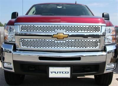Putco - Chevrolet Silverado Putco Punch Stainless Steel Grille - 84195