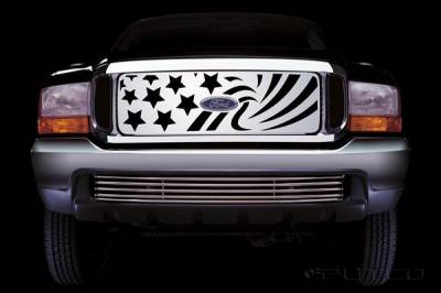 Putco - Ford F250 Superduty Putco Patriot Stainless Steel Grille - 86106