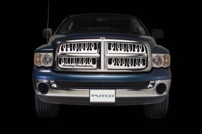 Putco - Chevrolet Silverado Putco Flaming Inferno Stainless Steel Grille - 89101