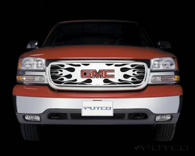 Putco - GMC Sierra Putco Flaming Inferno Stainless Steel Grille - 89102