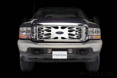 Putco - Ford F250 Superduty Putco Flaming Inferno Stainless Steel Grille - 89105