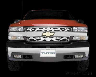 Putco - Chevrolet Silverado Putco Flaming Inferno Stainless Steel Grille - 89107