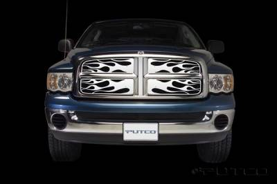 Putco - Dodge Ram Putco Flaming Inferno Stainless Steel Grille - 89132