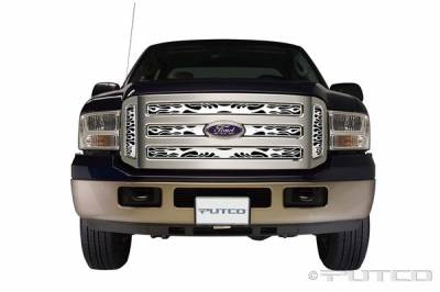 Putco - Ford F350 Superduty Putco Flaming Inferno Stainless Steel Grille - 89155