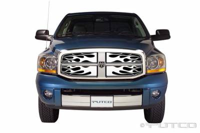 Putco - Dodge Ram Putco Flaming Inferno Stainless Steel Grille - 89156