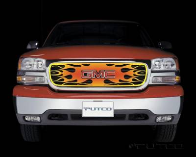 Putco - GMC Sierra Putco Flaming Inferno Stainless Steel Grille - 4 Color - 89302