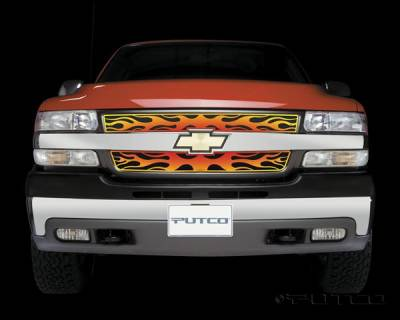 Putco - Chevrolet Silverado Putco Flaming Inferno Stainless Steel Grille - 4 Color - 89307