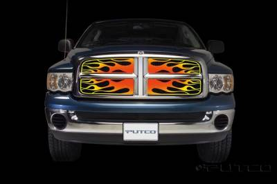 Putco - Dodge Ram Putco Flaming Inferno Stainless Steel Grille - 4 Color - 89332