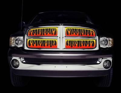 Putco - Dodge Ram Putco Flaming Inferno Stainless Steel Grille - 4 Color - 89334