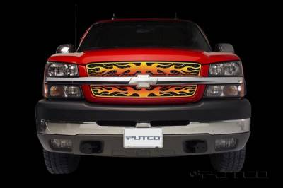 Putco - Chevrolet Silverado Putco Flaming Inferno Stainless Steel Grille - 4 Color - 89337