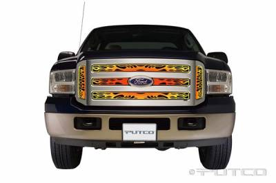 Putco - Ford F350 Superduty Putco Flaming Inferno Stainless Steel Grille - 4 Color - 89355