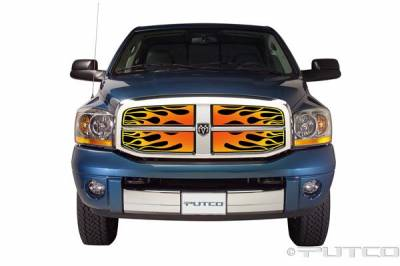 Putco - Dodge Ram Putco Flaming Inferno Stainless Steel Grille - 4 Color - 89356