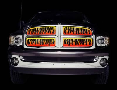 Putco - Chevrolet Silverado Putco Flaming Inferno Stainless Steel Grille - 4 Color - 89357