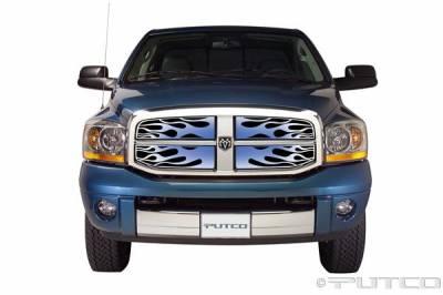 Putco - Dodge Ram Putco Flaming Inferno Stainless Steel Grille - Blue - 89456
