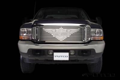 Putco - Ford F350 Superduty Putco Liquid Grille Insert with Wings Logo - 94106