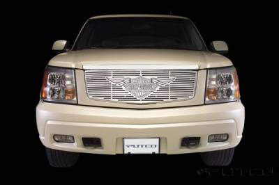 Putco - Cadillac Escalade Putco Liquid Grille Insert with Wings Logo - 94115
