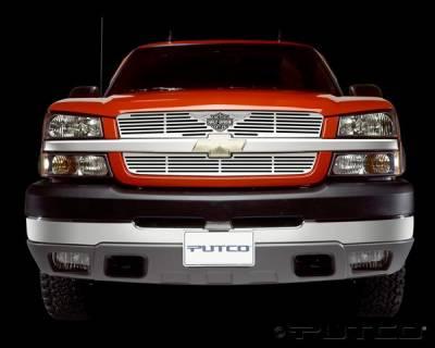 Putco - Chevrolet Silverado Putco Liquid Grille Insert with Wings Logo - 94137