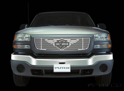 Putco - GMC Sierra Putco Liquid Grille Insert with Wings Logo - 94138