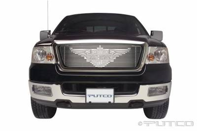 Putco - Ford F150 Putco Liquid Grille Insert with Wings Logo - 94142